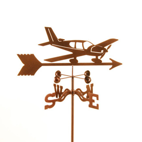 Airplane-Low Wing Weathervane With Mount
