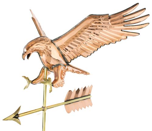 Weathervane - Eagle - Polished Copper