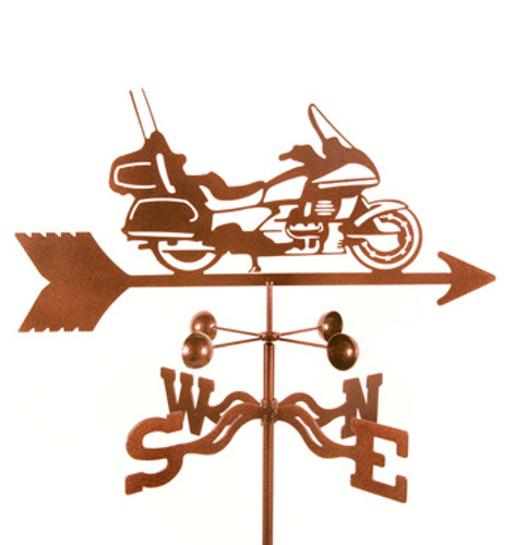 Touring Motorcycle Weathervane With Mount