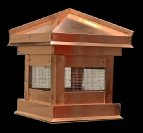 Copper Chimney Cap Hip Roof 13x13x20
