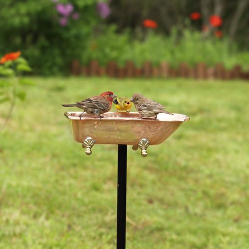 Splish Splash Bird Bath - Pure Copper
