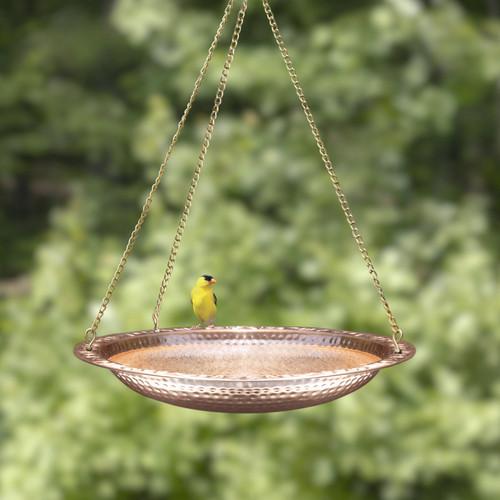 "Copy of Pure Copper 18"" Hanging Bird Bath"