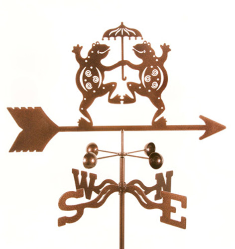 Dancing Frogs Weathervane With Mount