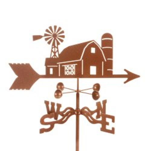 Farm Scene Weathervane With Mount
