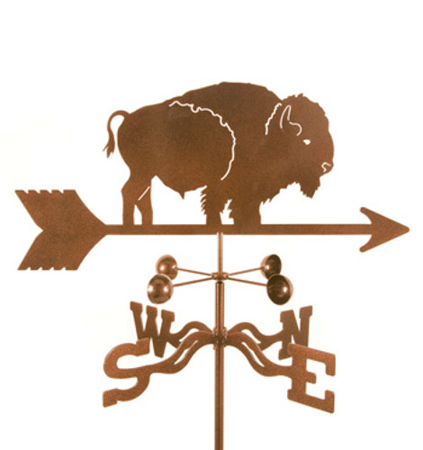 Bison Weathervane With Mount