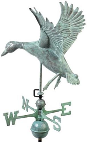 Good Directions Landing Duck Weathervane - Blue Verde Copper