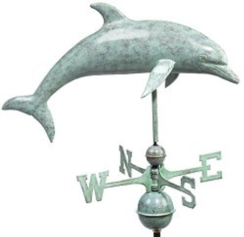 Good Directions Dolphin Weathervane - Blue Verde Copper