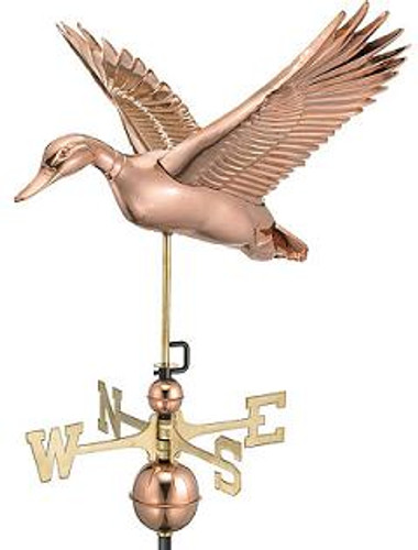Good Directions Flying Duck Weathervane - Polished Copper