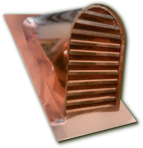 Copper Roof Vent 12x18 Tombstone
