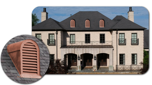 Copper Roof Vent or Dormer - 12x18 Tombstone