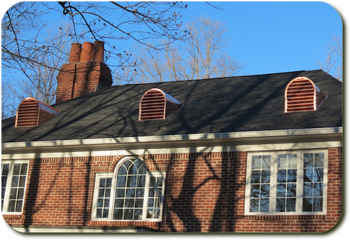 Copper Roof Vent or Dormer - 22x34 Tombstone