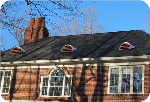 Copper Roof Vent or Dormer - 18x36 Half Round