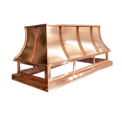 Copper Chimney Cap - French Curve 36 in. x 30