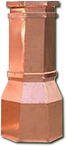 Copper Chimney Pot - Octagon 22 in. x  42 in.