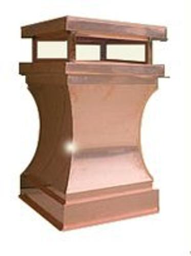 Copper Chimney Pot - Curved  22 in. x 35 in.