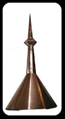 Finial - Single Ball 42 in. Turret