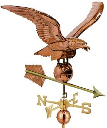 Good Directions Smithsonian 956P Eagle Estate Weathervane - Polished Copper
