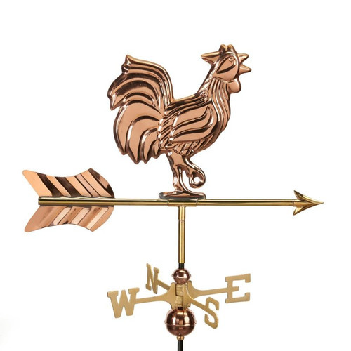 Rooster Weathervane by Good Directions - Copper With Mount
