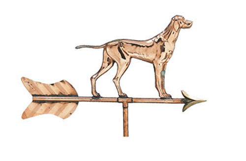 Weathervane - Polished Cottage Dog