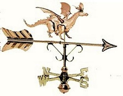Weathervane - Polished - Cottage Dragon