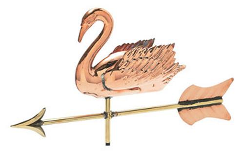 Weathervane - Polished - 3-D Cottage Swan