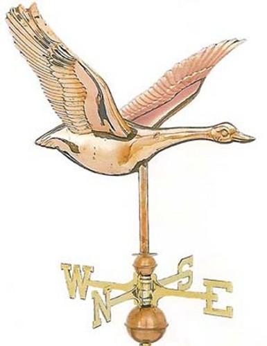 Weathervane - Polished - Flying Goose