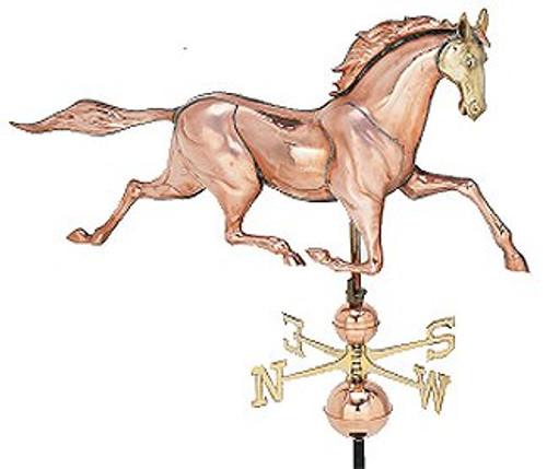 Weathervane - Polished XL 3-D Race Horse