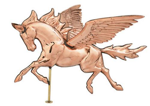 Weathervane - Polished - 3-D Pegasus