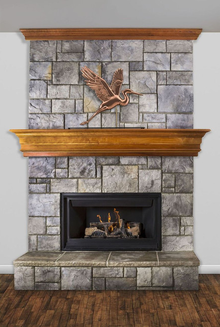 Graceful Blue Heron Mantel Weathervane