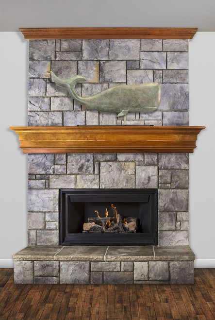 Large Whale Mantel Weathervane