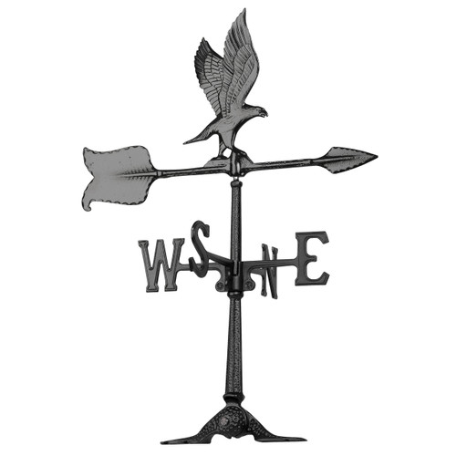 "Whitehall 24"" Accent Eagle Weathervane - Black"