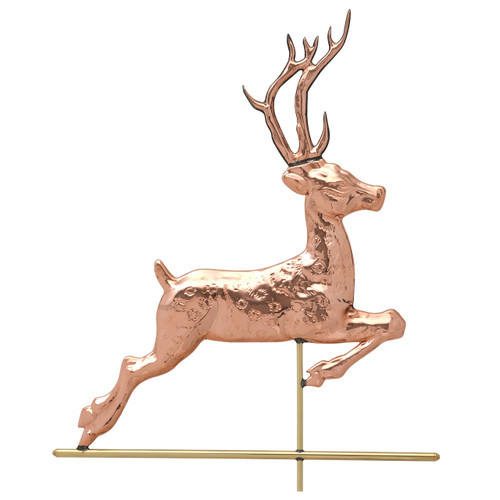 "Whitehall 26"" Copper Deer Weathervane - Polished"""