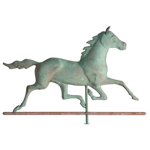 "Whitehall 34"" Copper Horse Weathervane - Verdigris"