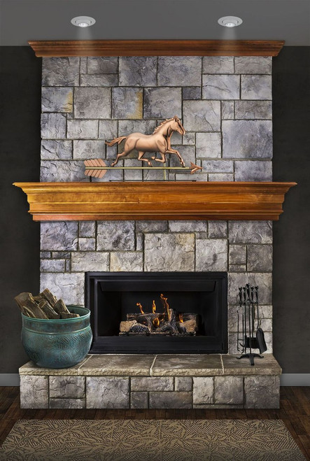 Trotting Horse Mantel Weathervane