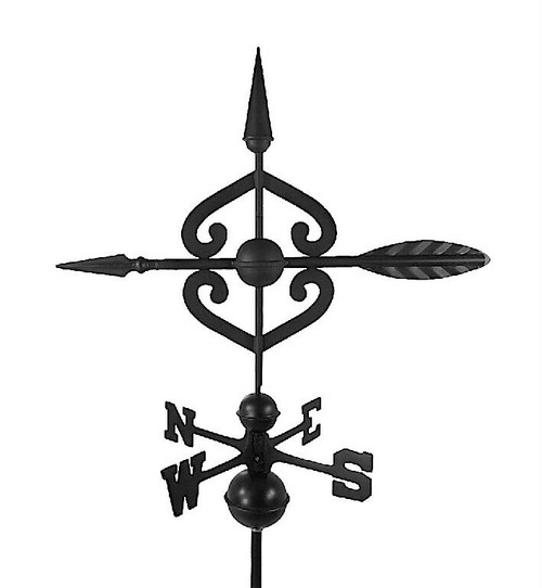 Scrolled Arrow Large Black Aluminum with Traditional Directionals