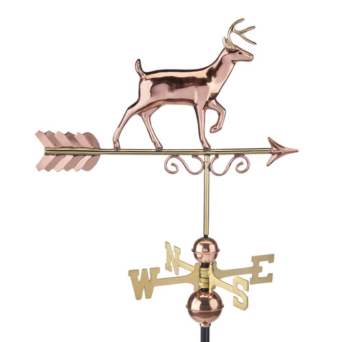 Proud Buck Weathervane - Pure Copper by Good Directions