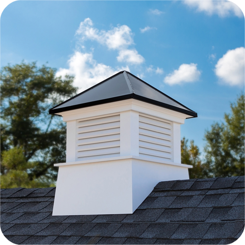 Good Directions Vinyl Manchester Cupola Black Aluminum Roof - 26in. square x 32in. high