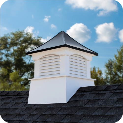 Good Directions Vinyl Coventry Cupola Black Aluminum Roof - 36in. square x 49in. high