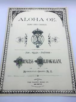 Sheet Music - Aloha Oe