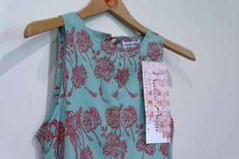 Nakeu Dress (Coral Hibiscus)