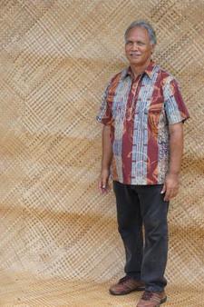 Nakeu Awai Mens Aloha Shirt (Pahu Puniu/Ohe Kapala)
