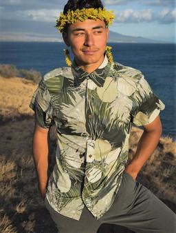 Coconut Flower, Fruit & Fronds Aloha Shirt
