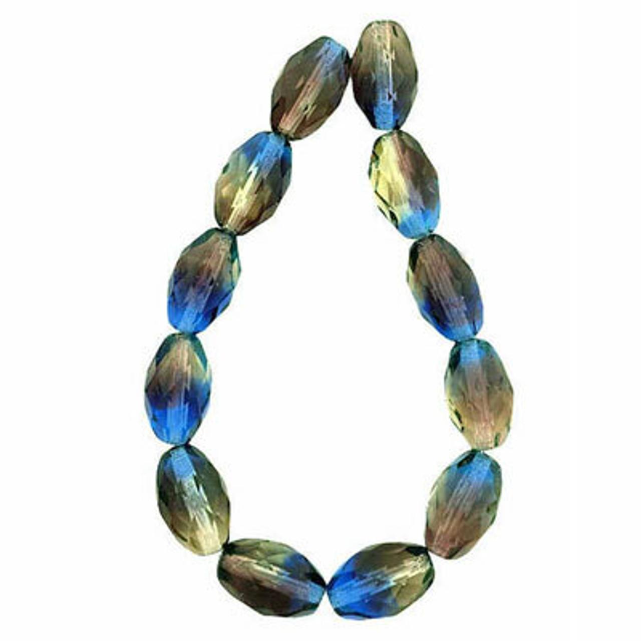 Oval Fire Polished Beads