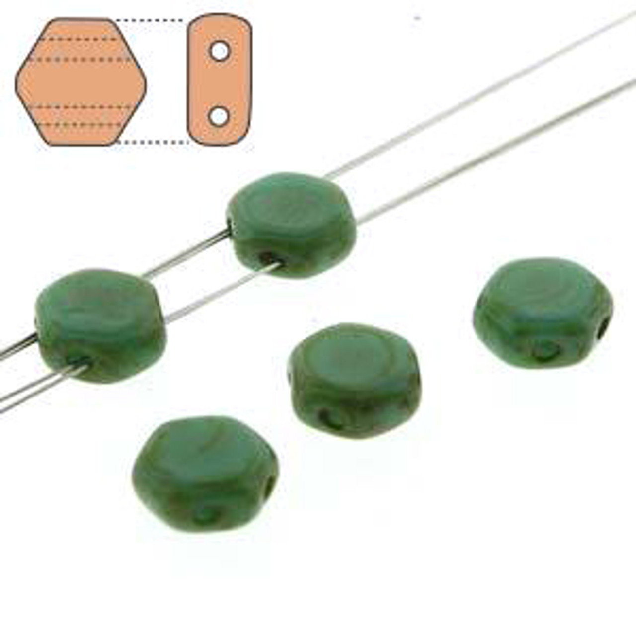 Honeycomb Beads (2-Hole)