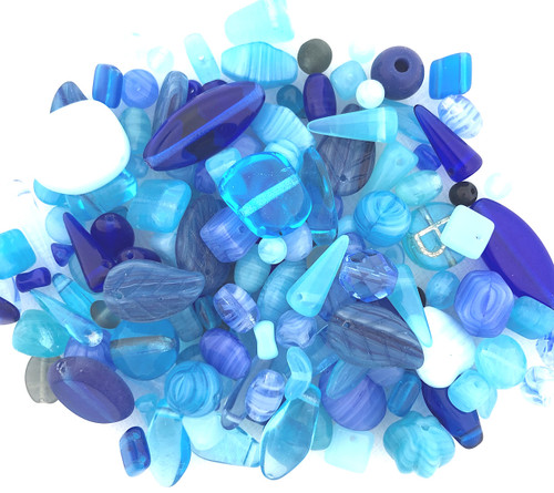 Glass Bead Mix, Blue Jay Blue (60 gr.)