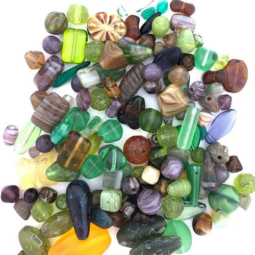 Glass Bead Mix, Leprechaun Green (60 gr.)