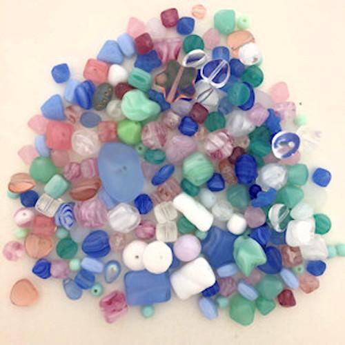 Glass Bead Mix, Cotton Candy (60 gr.)