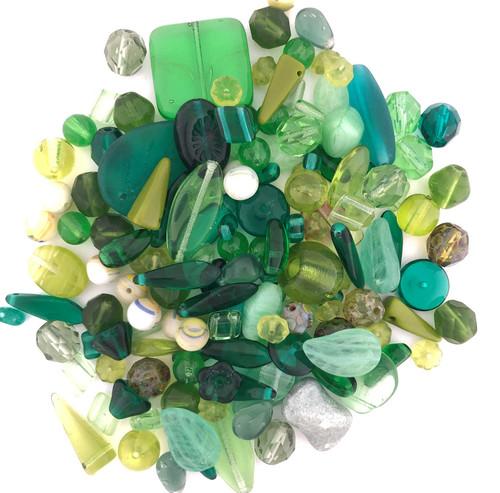 Glass Bead Mix, Fresh Foliage (60 gr.)