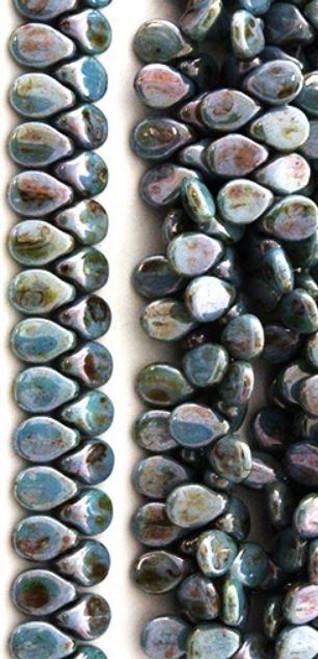 Pip Beads, Chalk Lumi Green (7 x 5mm) (Qty. 35)