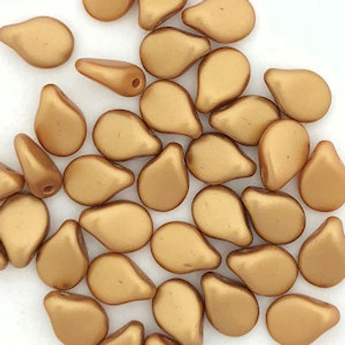 Pip Beads, Aztec Gold (7 x 5mm) (Qty. 35)